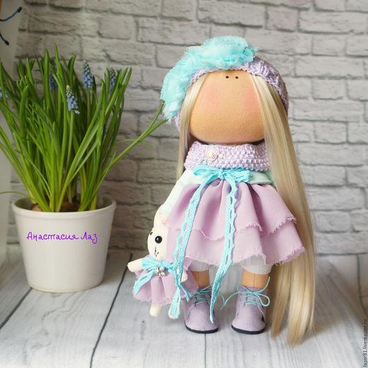 Коллекционные куклы ручной работы. Ярмарка Мастеров - ручная работа. Купить Ментол с сиренью. Handmade. Сиреневый, куклы и игрушки, шифон