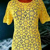 Одежда ручной работы. Ярмарка Мастеров - ручная работа Кофта крючком  вязаная Солнечный цветок. Handmade.