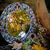 Для дома и интерьера ручной работы. Ярмарка Мастеров - ручная работа Круглое зеркало в мозаичном декоре. Handmade.