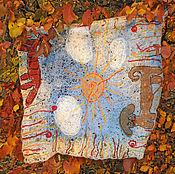 Пледы ручной работы. Ярмарка Мастеров - ручная работа Детский плед - коврик «Кошечка- собачка». Handmade.