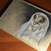 Картины ручной работы. Ярмарка Мастеров - ручная работа Картины: Сова Сипуха. Handmade.