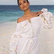 "Одежда handmade. Livemaster - original item Off the shoulder dress ""Morning Breeze"". Handmade."