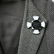 Украшения ручной работы. Ярмарка Мастеров - ручная работа Брошка орден Мальтийский крест. Handmade.