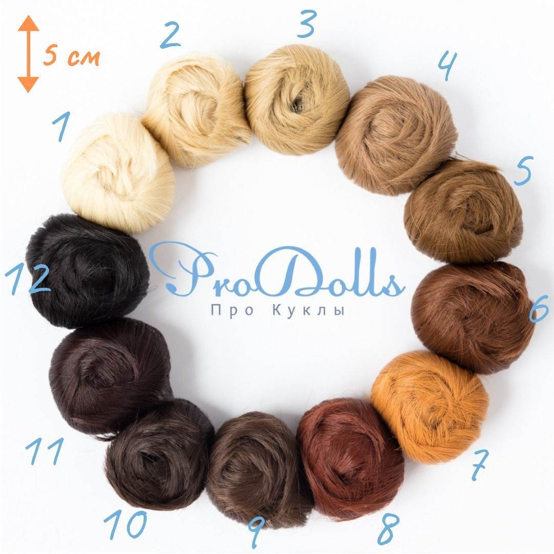 """Doll forelock Hair wefts 5cm (2"""" inches), Doll hair, St. Petersburg,  Фото №1"""