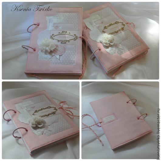 """Персональные подарки ручной работы. Ярмарка Мастеров - ручная работа. Купить """"Дневник для девочки"""". Handmade. Бледно-розовый, дневник, блокнот"""