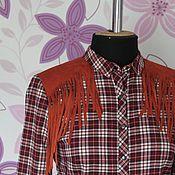 Одежда ручной работы. Ярмарка Мастеров - ручная работа Рубашка с бахромой.. Handmade.