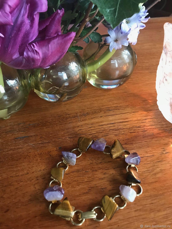 Bracelet vintage 'Charoite', handmade, Holland, Vintage bracelets, Arnhem,  Фото №1