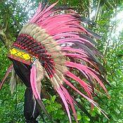 Одежда handmade. Livemaster - original item Bohemian Indian Headdress, Native American Warbonnet. Handmade.