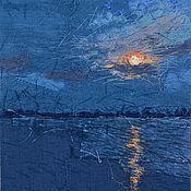 Картины и панно handmade. Livemaster - original item Textile panels, the Moon. Handmade.