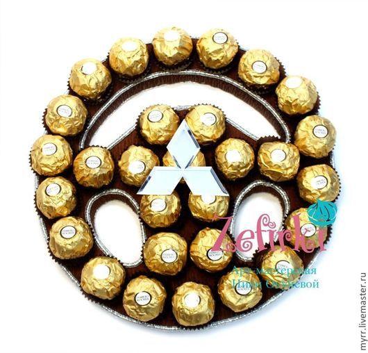 Букеты ручной работы. Ярмарка Мастеров - ручная работа. Купить Руль из конфет для мужчины или женщины  Подарок мужчине на 23 февраля. Handmade.