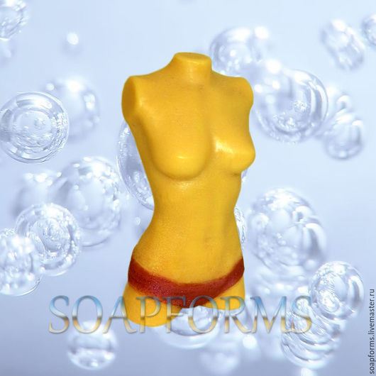 Силиконовая форма для мыла и свечей `Женский торс` 3D