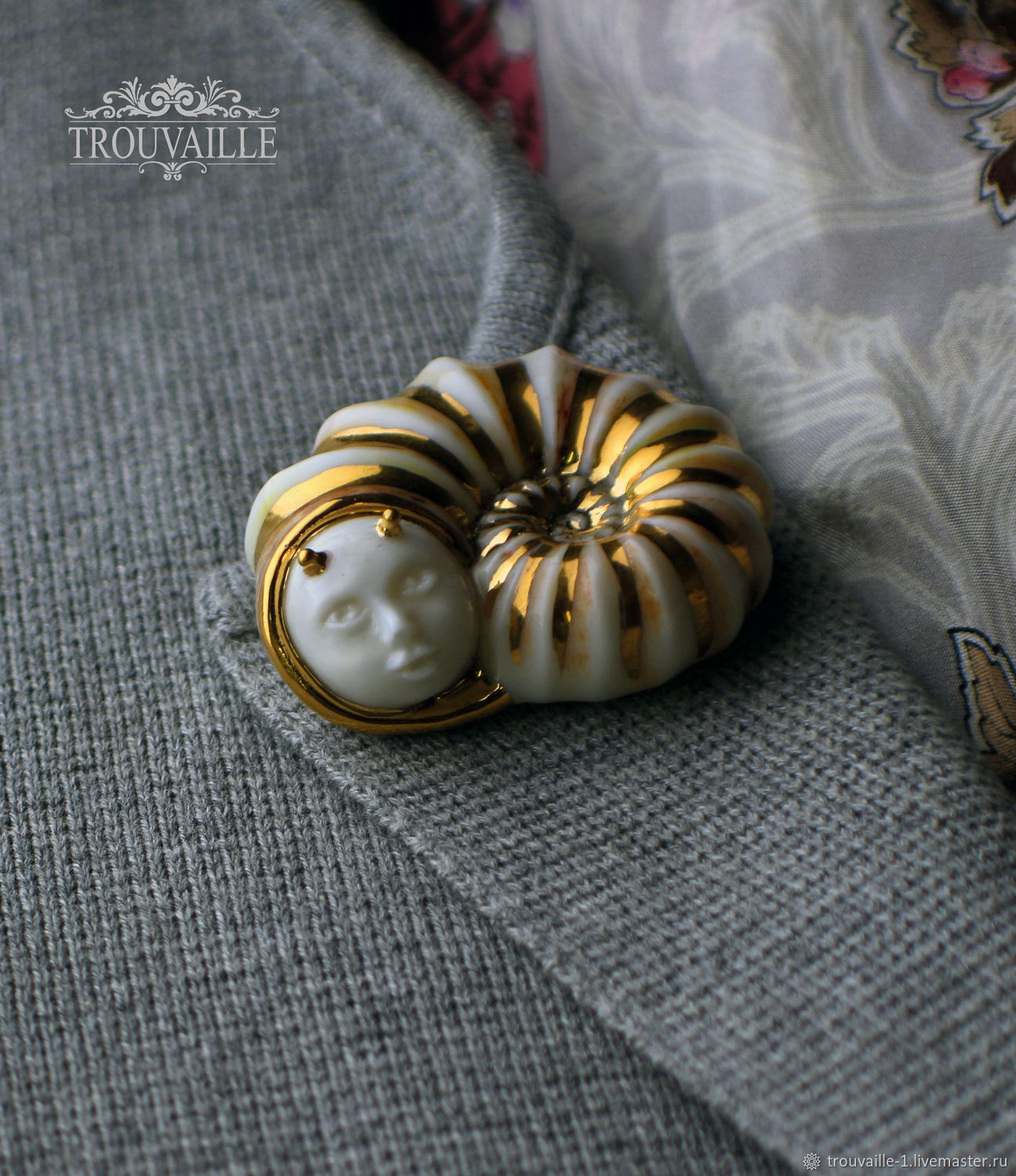 Brooch-pin: Extrovert snail, Brooches, Rostov-on-Don,  Фото №1