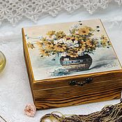 Для дома и интерьера handmade. Livemaster - original item Box bouquet of flowers array of coniferous species. Handmade.