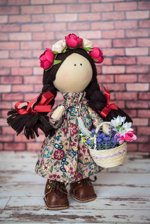 Interior textile doll Vesnyanka, Round Head Doll, Moscow,  Фото №1