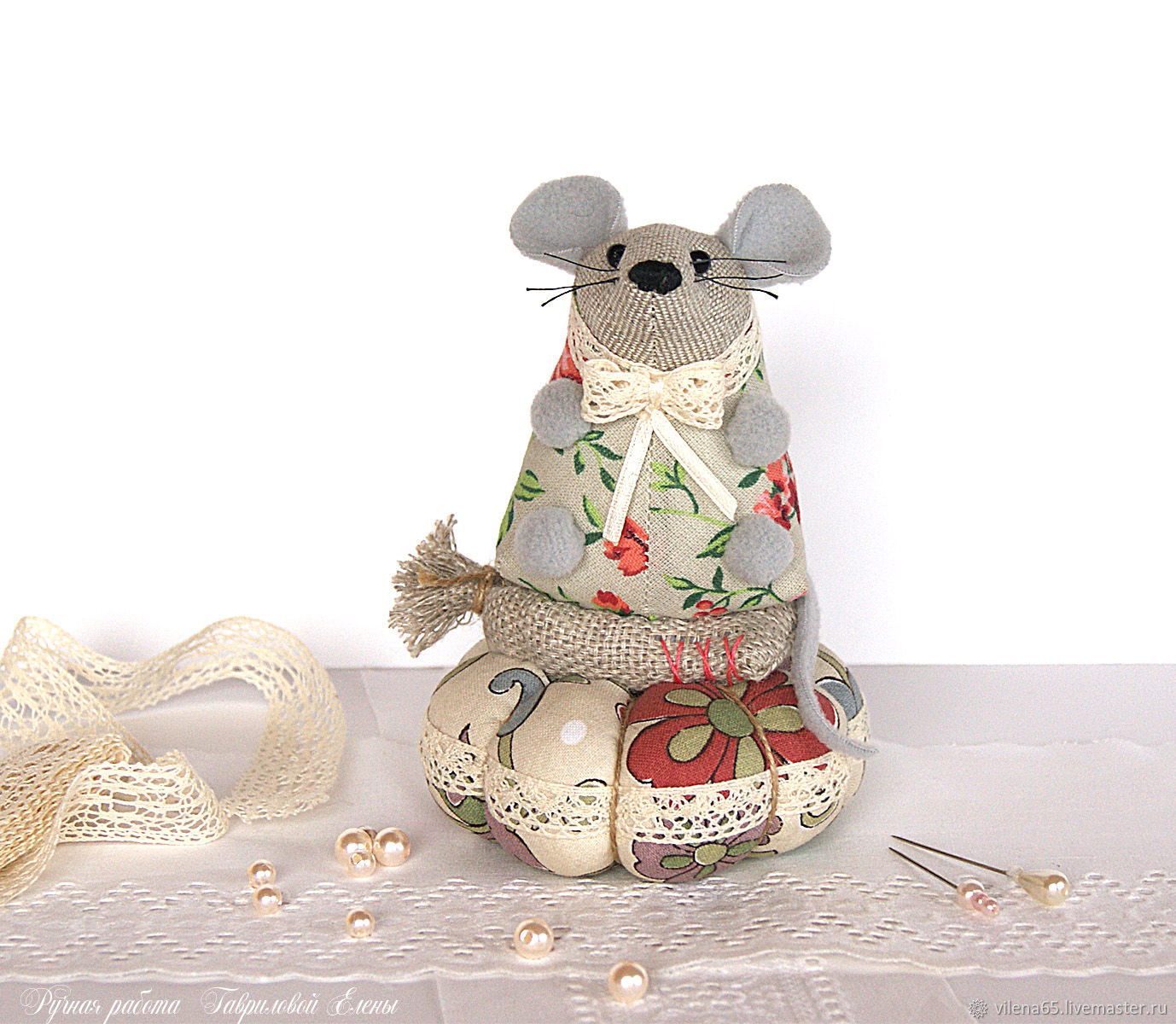 Mouse gray. Toy, needler, mouse, mouse, Christmas gifts, Magnitogorsk,  Фото №1