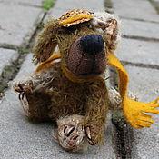 Куклы и игрушки ручной работы. Ярмарка Мастеров - ручная работа мишки тедди и их друзья. собака Детектив . 11 см. Мохер. Handmade.