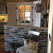 Для дома и интерьера ручной работы. Ярмарка Мастеров - ручная работа Зеркало со ставнями настенное в стиле Прованс. Handmade.