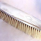 Аксессуары винтажные ручной работы. Ярмарка Мастеров - ручная работа Одежная щетка серебро дерево щетина 1932 год. Handmade.