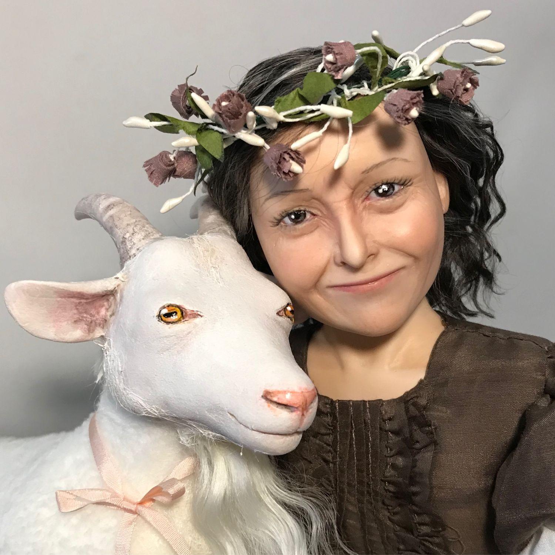 Портретная кукла (с козой), Портретная кукла, Омск,  Фото №1