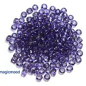Материалы для творчества handmade. Livemaster - original item 10 grams 6/0 Toho 19 TOHO Japanese glass seed beads transparent sugar plum. Handmade.