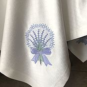 Tablecloths handmade. Livemaster - original item Tablecloth with embroidery
