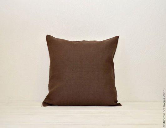 Текстиль, ковры ручной работы. Ярмарка Мастеров - ручная работа. Купить Подушка льняная Кофе с молоком. Handmade. Серый