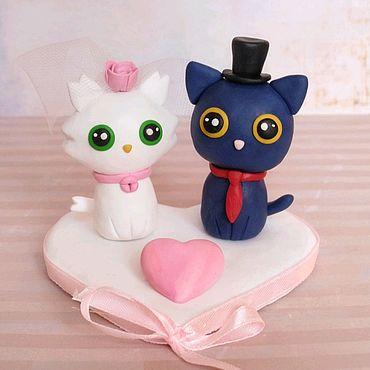 Свадебный салон ручной работы. Ярмарка Мастеров - ручная работа Котики на свадебные торт. Handmade.