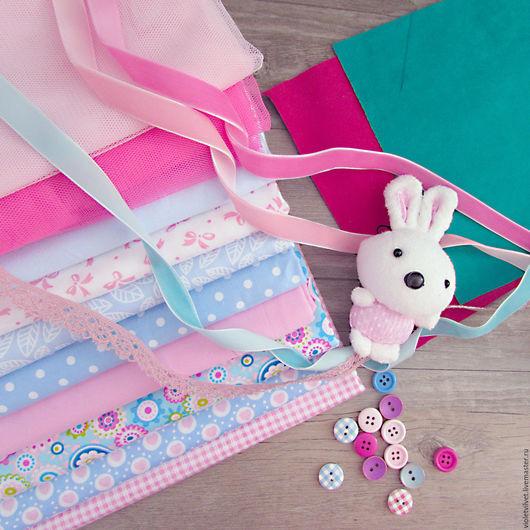 Набор для шитья куклы. Розово-голубой