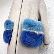 Пальто ручной работы. Ярмарка Мастеров - ручная работа Карманы накладные из меха Цветовой МИКС. Handmade.