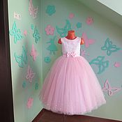 """Работы для детей, ручной работы. Ярмарка Мастеров - ручная работа Нарядное платье для девочки """"Нежно розовое"""". Handmade."""