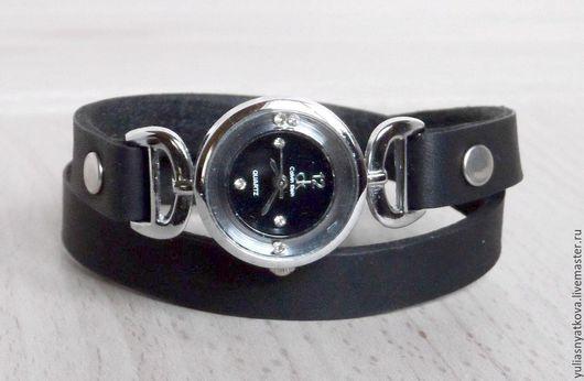 Часы ручной работы. Ярмарка Мастеров - ручная работа. Купить Часы на браслете в два оборота.. Handmade. Черный