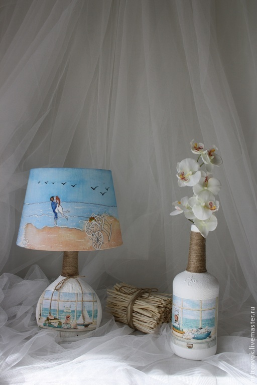 """Освещение ручной работы. Ярмарка Мастеров - ручная работа. Купить """"Свадьба на море"""". Handmade. Морская тематика, в спальню, что подарить, в гостиную"""