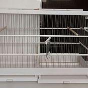 """Для домашних животных, ручной работы. Ярмарка Мастеров - ручная работа Белая """"Московка"""" с двойным поддоном. Handmade."""