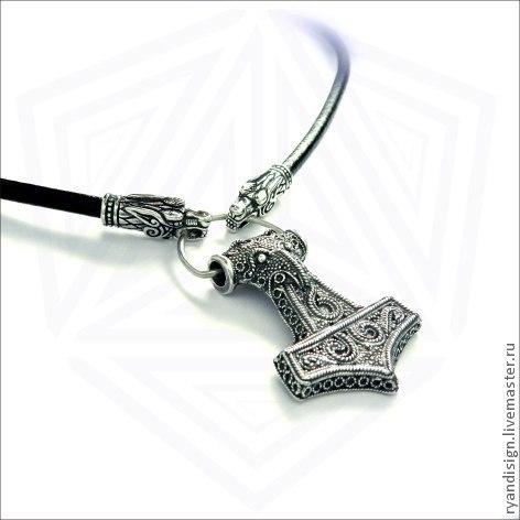 Молот Тора, кулон мужской из серебра, подарки для мужчин
