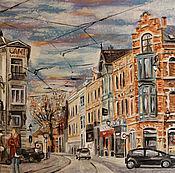 Картины и панно ручной работы. Ярмарка Мастеров - ручная работа Улица Брюсселя. Handmade.