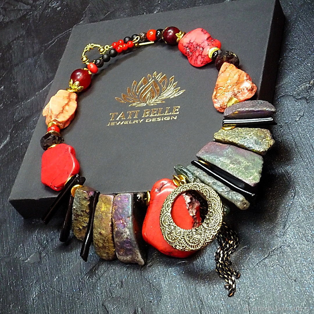 Necklace of natural stones 'Gypsy Soul', Necklace, Moscow,  Фото №1