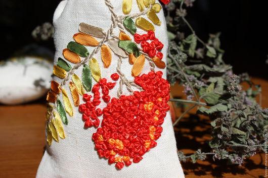 Текстиль, ковры ручной работы. Ярмарка Мастеров - ручная работа. Купить Льняной мешочек для трав. Handmade. Лен, осень, вышивка