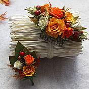 Свадебный салон ручной работы. Ярмарка Мастеров - ручная работа Комплект аксессуаров для осенней свадьбы. Handmade.