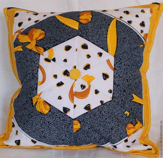 Текстиль, ковры ручной работы. Ярмарка Мастеров - ручная работа. Купить Подушки - вертушки. Handmade. Комбинированный, лоскутное шитье