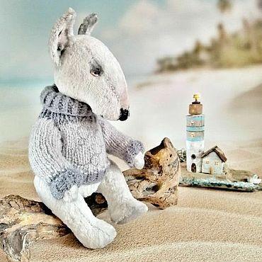 Куклы и игрушки ручной работы. Ярмарка Мастеров - ручная работа Собака тедди Бультерьер. Handmade.