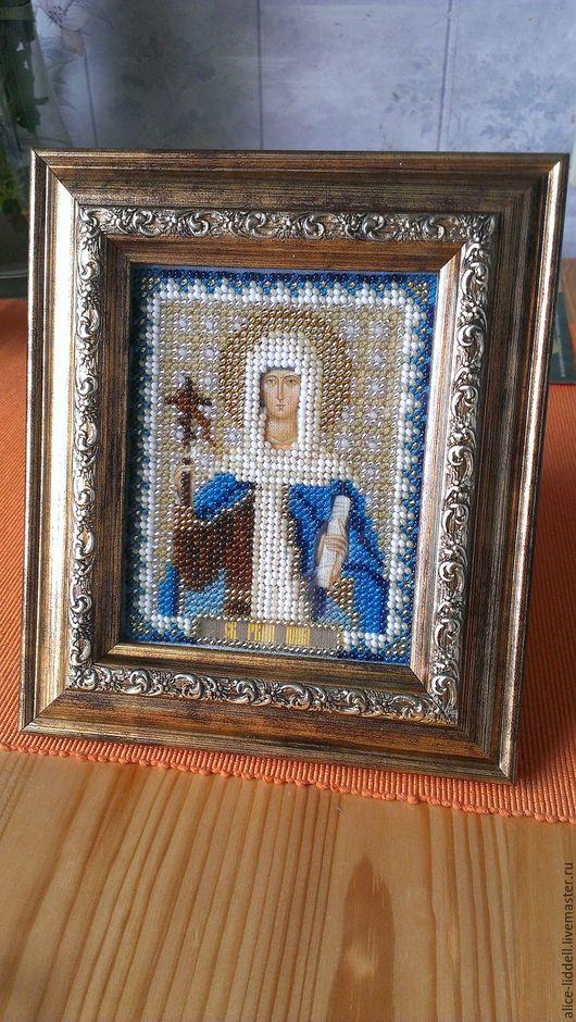 Иконы ручной работы. Ярмарка Мастеров - ручная работа. Купить Икона святой равноапостольной Нины. Handmade. Комбинированный, икона в подарок