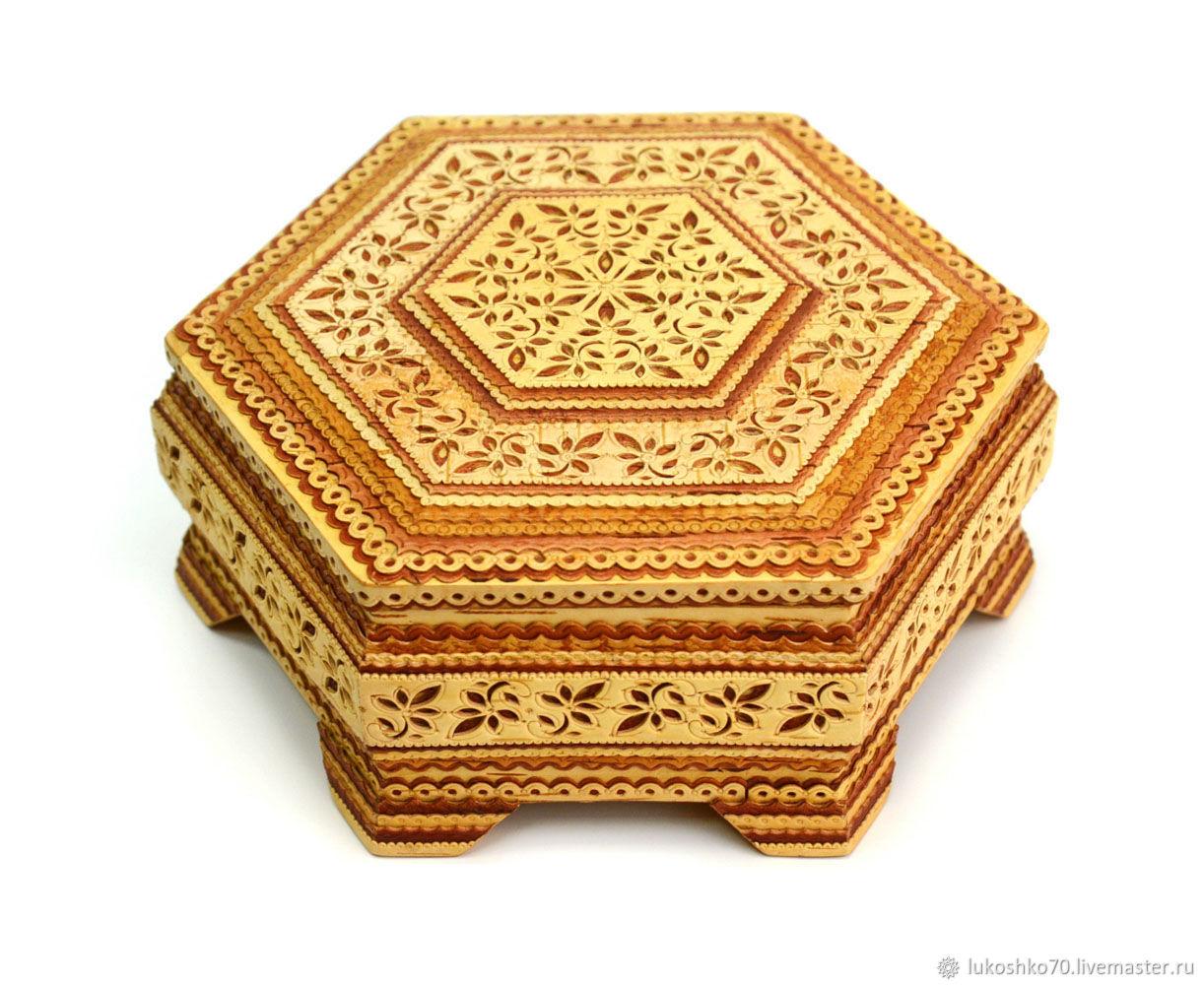 Box birch bark mirror. wooden box, Box, Tomsk,  Фото №1