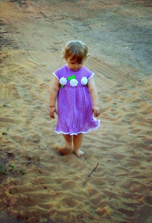 """Одежда для девочек, ручной работы. Ярмарка Мастеров - ручная работа. Купить Платье """"Весенняя свежесть"""". Handmade. Сиреневый, платье для девочки"""