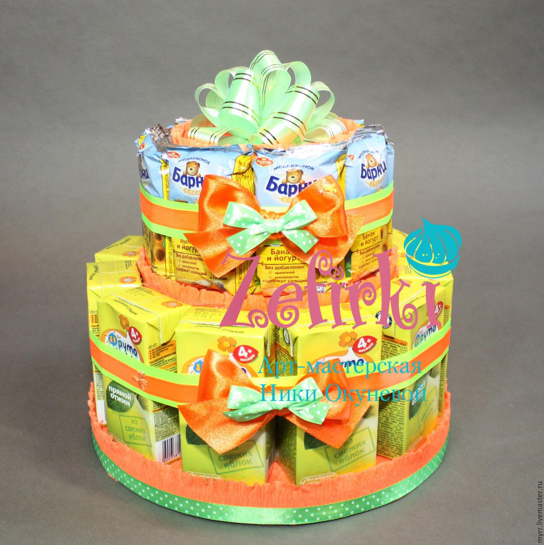 Детский торт из барни и сока пошагово