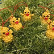 Подарки к праздникам ручной работы. Ярмарка Мастеров - ручная работа Подвеска цыплёнок. Handmade.