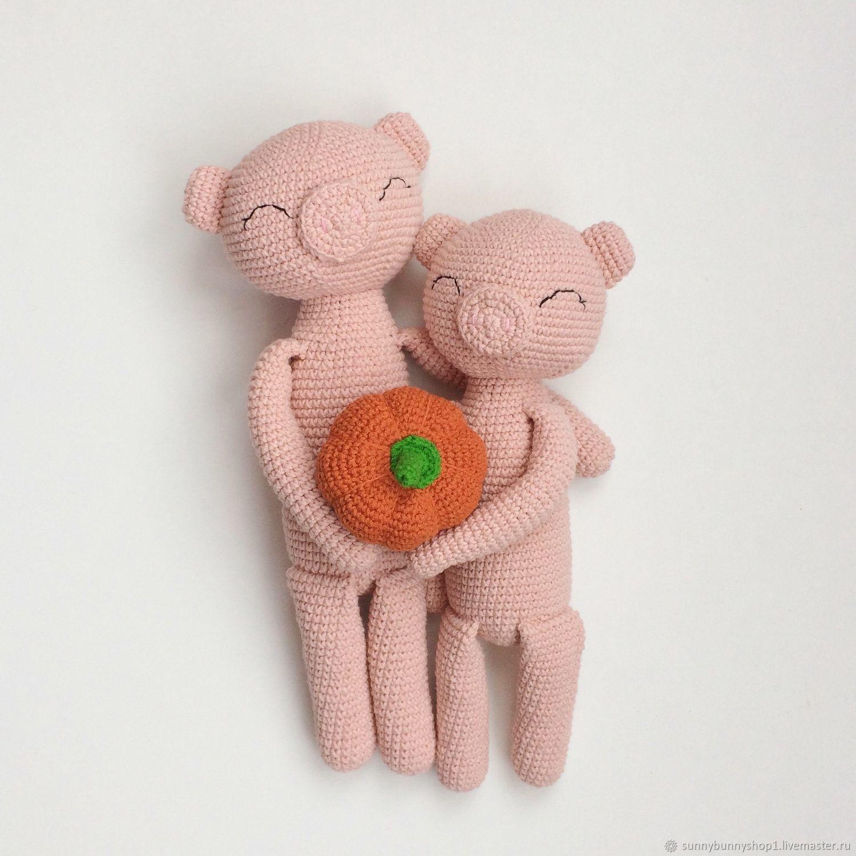 Вязаная свинка игрушка сплюшка амигуруми игрушка ручной работы, Игрушки, Краснодар, Фото №1
