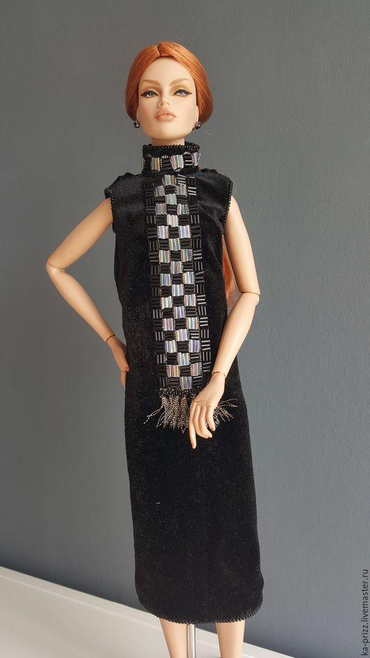 Одежда для кукол ручной работы. Ярмарка Мастеров - ручная работа. Купить Платье для куклы Avanguard, Tonner, Sybaryte. Handmade. Черный
