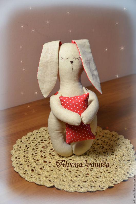 Ароматизированные куклы ручной работы. Ярмарка Мастеров - ручная работа. Купить Зайка-засыпайка для сладких снов малыша. Handmade.
