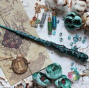 Субкультуры handmade. Livemaster - original item The author`s Magic wand Harry Potter mint green mother of pearl. Handmade.