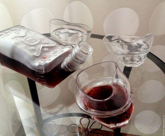 Декоративная посуда ручной работы. Ярмарка Мастеров - ручная работа. Купить Гнутые стаканы, набор 6 шт.. Handmade.